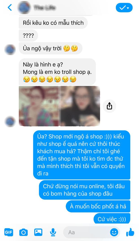 Lỡ hỏi 1 câu, cô gái bị chủ shop online nhắn tin không buông: Không mua thì hỏi làm gì? Shop đây mỗi ngày phốt 20-30 đứa!-3