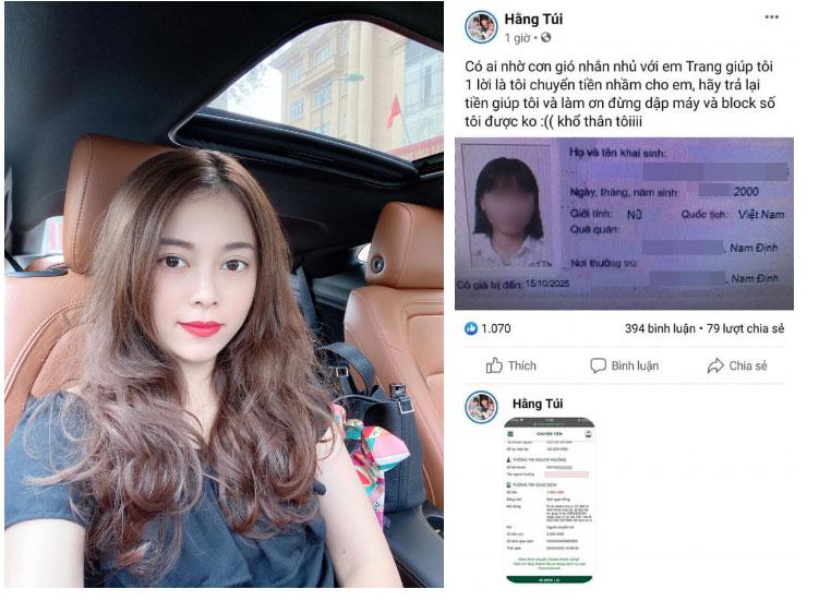 Hot mom Hằng Túi lại vướng lùm xùm ầm ĩ: Chuyển khoản nhầm 15 triệu cho một nữ sinh, nhưng đăng cả thông tin cá nhân lên FB để đòi-1