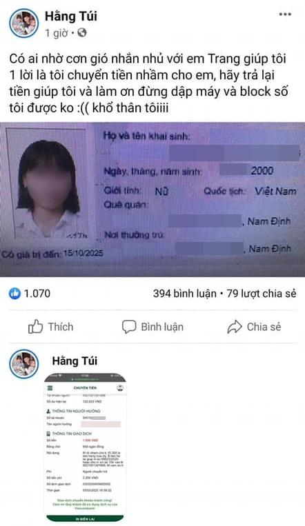 Từ vụ hot mom Hằng Túi chuyển khoản nhầm 15 triệu cho một nữ sinh, đăng cả thông tin cá nhân người nhận lên FB để đòi: Luật sư nói gì?-2