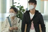 Quỳnh Anh tiễn Duy Mạnh sang Singapore khám chấn thương, gặp sự cố ngay khi vừa tới sân bay