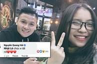 Quang Hải công khai gửi lời chúc 8/3 đến Nhật Lê trên mạng lại còn tặng thêm 1 trái tim
