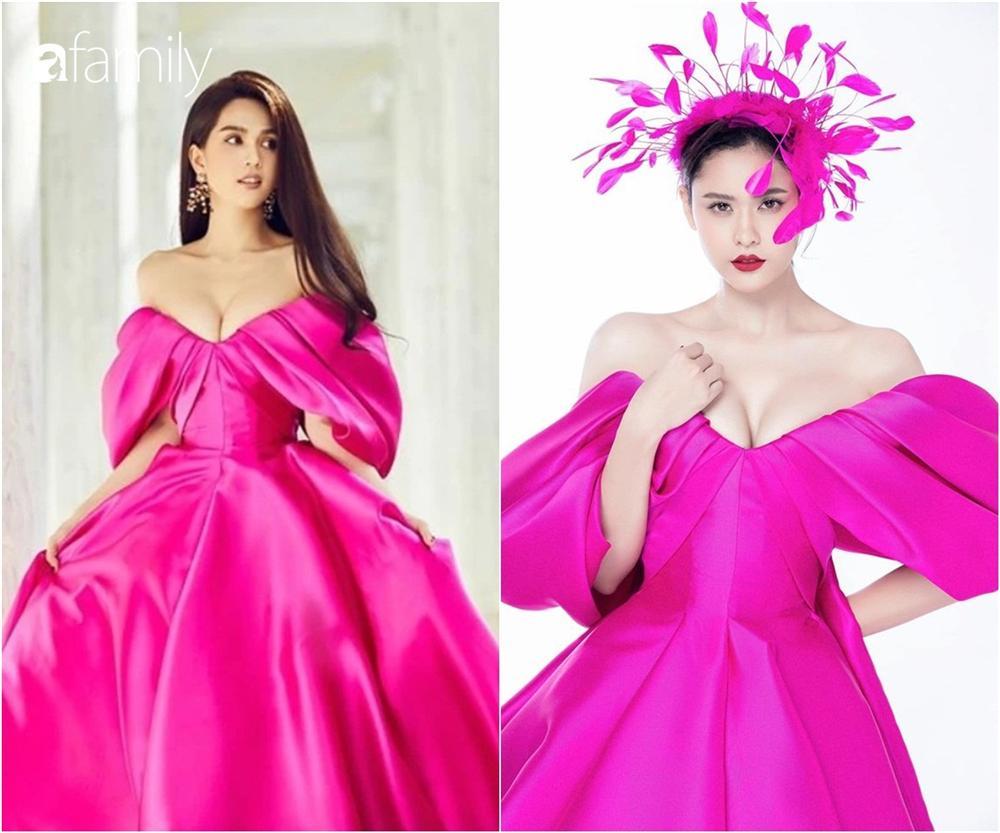 Cùng một chiếc váy mà Ngọc Trinh xinh như công chúa, Trương Quỳnh Anh lại có chút sến không hề nhẹ-3
