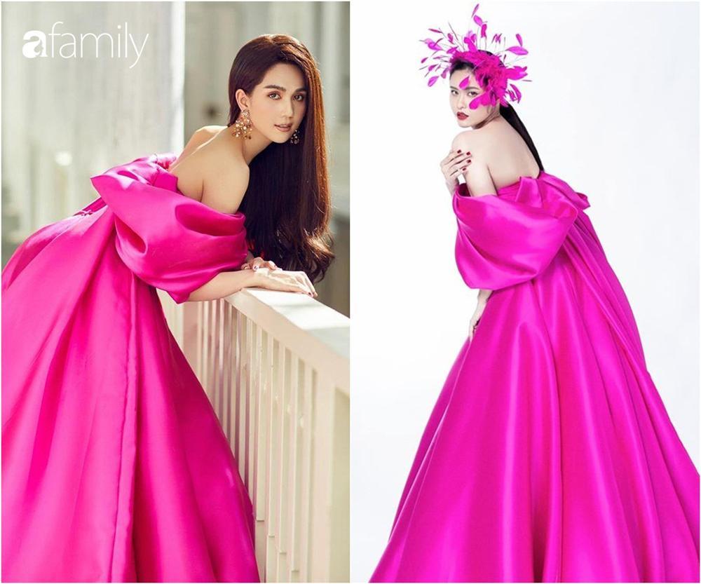 Cùng một chiếc váy mà Ngọc Trinh xinh như công chúa, Trương Quỳnh Anh lại có chút sến không hề nhẹ-4