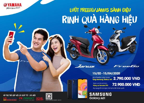 'Săn' cơ hội nhận xe Yamaha côn tay khi mua Janus và FreeGo-1