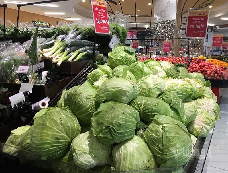 Rau quả, thực phẩm chất như núi, siêu thị vắng khách mua-4