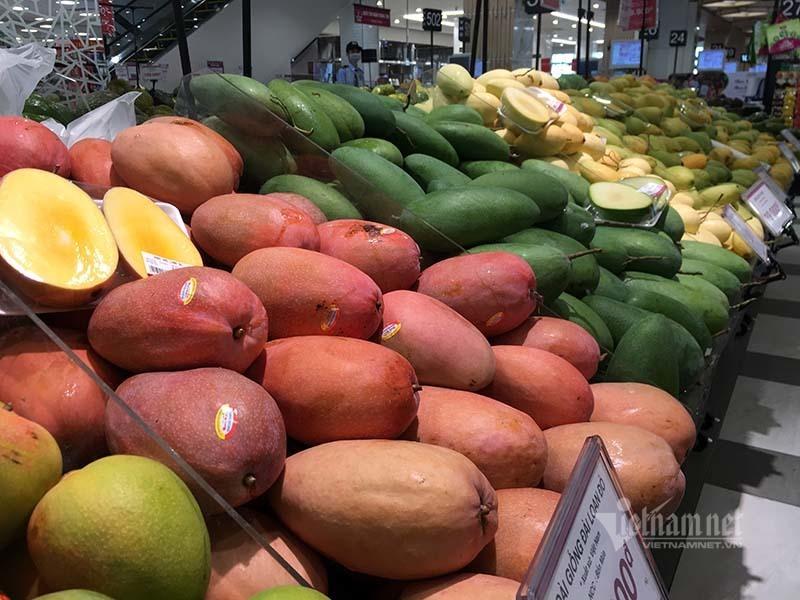 Rau quả, thực phẩm chất như núi, siêu thị vắng khách mua-7