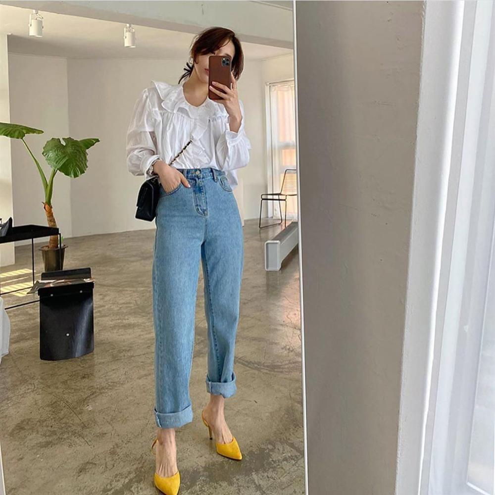 Dù bạn sở hữu kiểu quần jeans nào thì cũng có cách mix đồ tôn dáng ăn gian chân dài, diện đi chơi hay đi làm đều chuẩn chỉnh-7