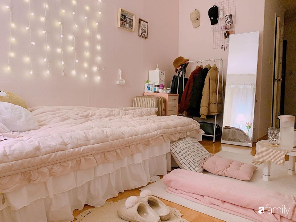 Từ căn phòng trọ cũ kỹ, cô gái trẻ người Việt tự sửa sang, cải tạo thành căn phòng đẹp lung linh không góc chết-4