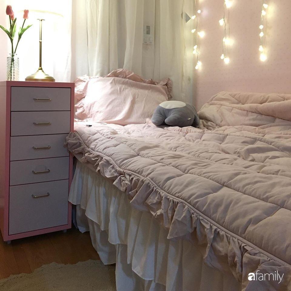 Từ căn phòng trọ cũ kỹ, cô gái trẻ người Việt tự sửa sang, cải tạo thành căn phòng đẹp lung linh không góc chết-15