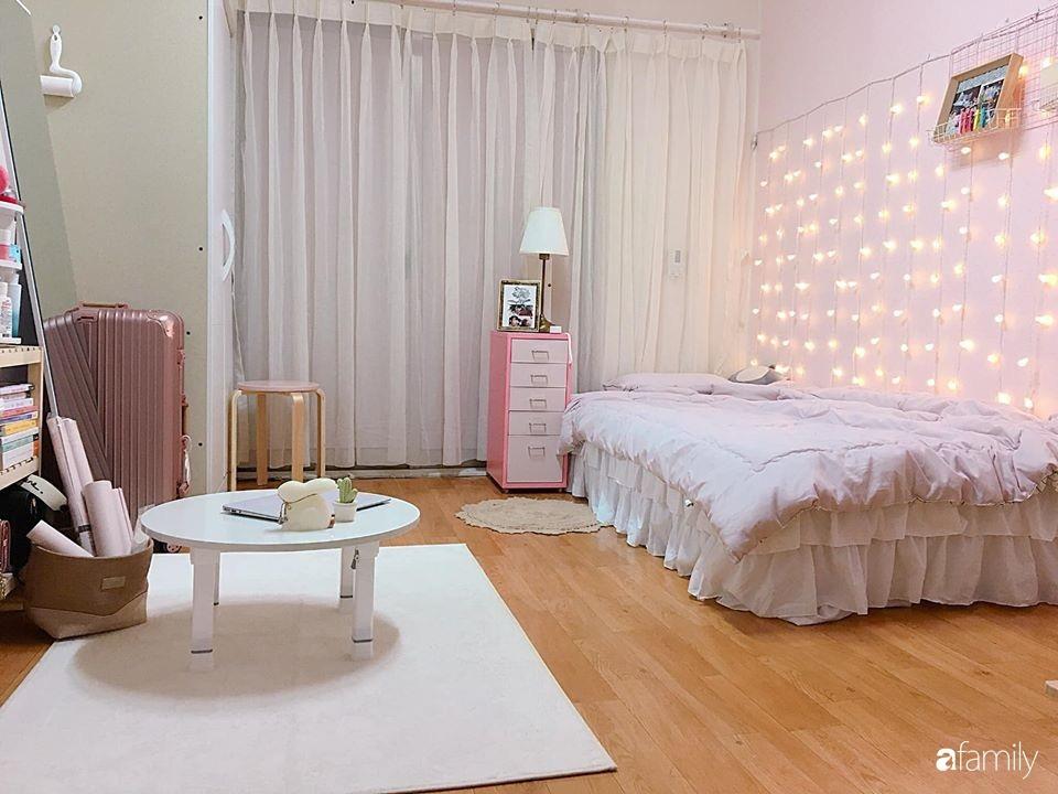 Từ căn phòng trọ cũ kỹ, cô gái trẻ người Việt tự sửa sang, cải tạo thành căn phòng đẹp lung linh không góc chết-18