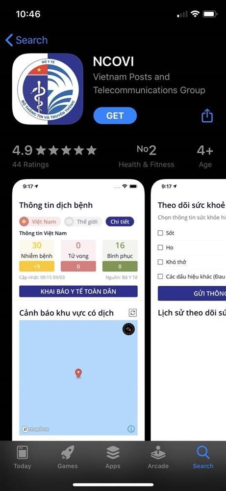 Ứng dụng NCOVI khai báo y tế toàn dân chính thức có mặt trên iOS-1