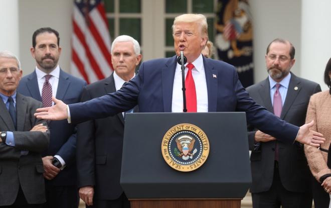 Tổng thống Trump ban bố tình trạng khẩn cấp quốc gia vì virus corona-1