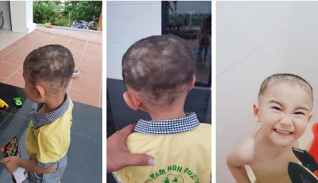 Ngại bế con ra cửa hàng cắt tóc, ông bố trẻ chơi lớn tự mình cầm kéo và cái kết khiến bạn bè người thân cạn lời-2