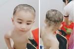 Cắt tóc tại gia cho đỡ tốn kém, ông bố trẻ cầm kéo và cái kết khiến cậu con trai khóc hết nước mắt còn dân mạng được phen không nhịn được cười-6