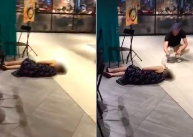 Đoạn clip người phụ nữ ngất xỉu ở trung tâm thương mại nhưng không ai đến giúp khiến dân mạng phẫn nộ và sự thật là gì?-1