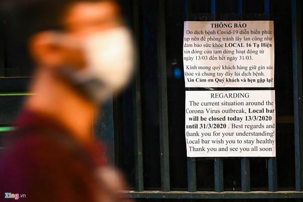 Hà Nội: Quán bar phố Tây Tạ Hiện tạm ngừng hoạt động, mong khách giữ sức khỏe trong dịch bệnh-6