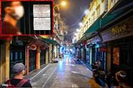 Hà Nội: Quán bar phố Tây Tạ Hiện tạm ngừng hoạt động, mong khách giữ sức khỏe trong dịch bệnh