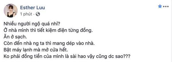 Hari Won bức xúc đăng đàn xéo xắt kẻ tới nhà người khác chơi mà lại có thói quen thích xài đồ chùa-1
