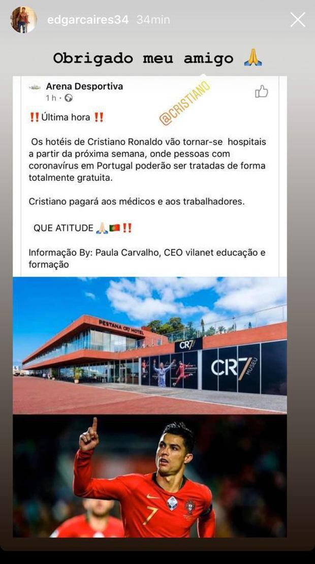 Nhân viên của Ronaldo xác nhận KHÔNG CÓ CHUYỆN khách sạn CR7 được dùng làm bệnh viện phục vụ bệnh nhân nhiễm Covid-19-1