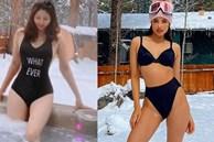 Phạm Hương khoe ảnh mẹ diện áo tắm khoe dáng giữa tuyết: 50 tuổi mà eo thon khó tin, khiến bao người phải ghen tị