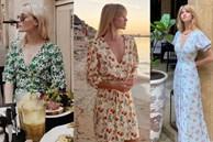Thực ra phụ nữ Pháp cũng rất điệu, mê mẩn đồ họa tiết hoa và diện theo cách vô cùng sang xịn, tinh tế