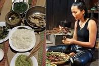 Hoa hậu H'Hen Niê ứa nước miếng, thấy 'sướng và đã' khi khoe mâm cơm đãi khách ở quê