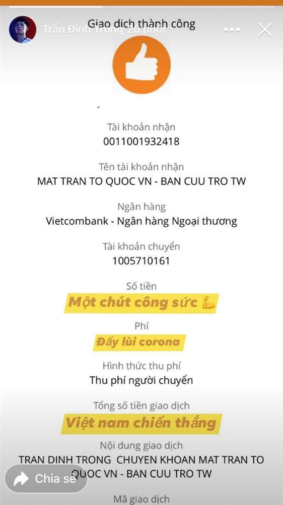 Cầu thủ Việt Nam quyên góp phòng chống dịch-1