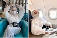 Mặc kín mít phòng dịch COVID-19, Chi Pu thành tâm điểm tại sân bay