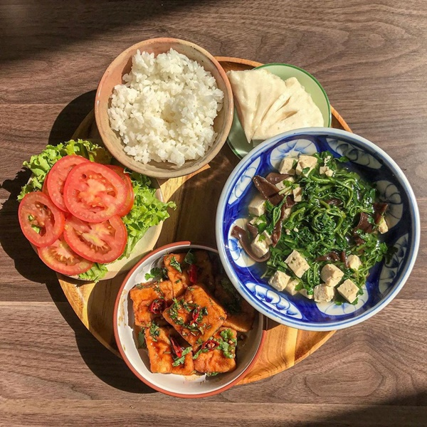 Thực đơn mâm cơm thuần chay dễ chế biến cho người bận rộn-4