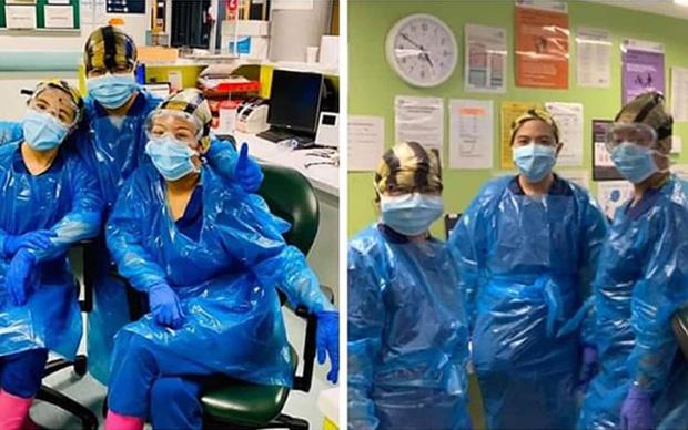 Bệnh viện London thất thủ vì Covid-19, y tá kiệt sức trùm túi rác làm việc do đồ bảo hộ thiếu trầm trọng-1