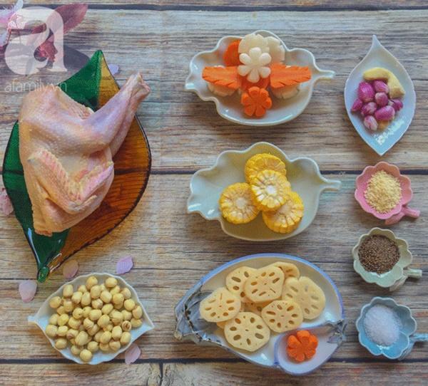 Bồi bổ sức khỏe phòng dịch bệnh với món gà hầm sen ngọt thơm-1