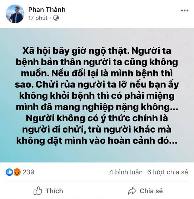 Thiếu gia Phan Thành ủng hộ quỹ chống Covid-19 nhưng che số tiền sau phát ngôn vạ miệng trước đó-3