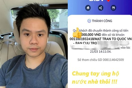 Thiếu gia Phan Thành ủng hộ quỹ chống Covid-19 nhưng che số tiền sau phát ngôn