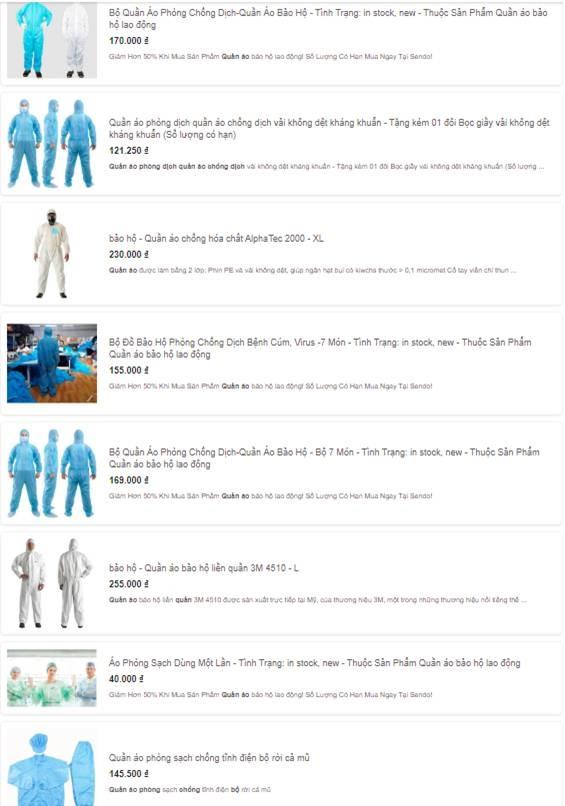 Bộ quần áo phòng dịch bán đa dạng tại các địa chỉ online, giá tuy cao nhưng là phương án được nhiều người tiêu dùng cân nhắc-1