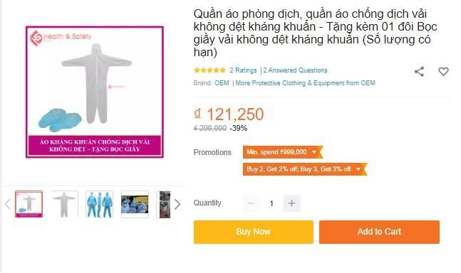 Bộ quần áo phòng dịch bán đa dạng tại các địa chỉ online, giá tuy cao nhưng là phương án được nhiều người tiêu dùng cân nhắc-6