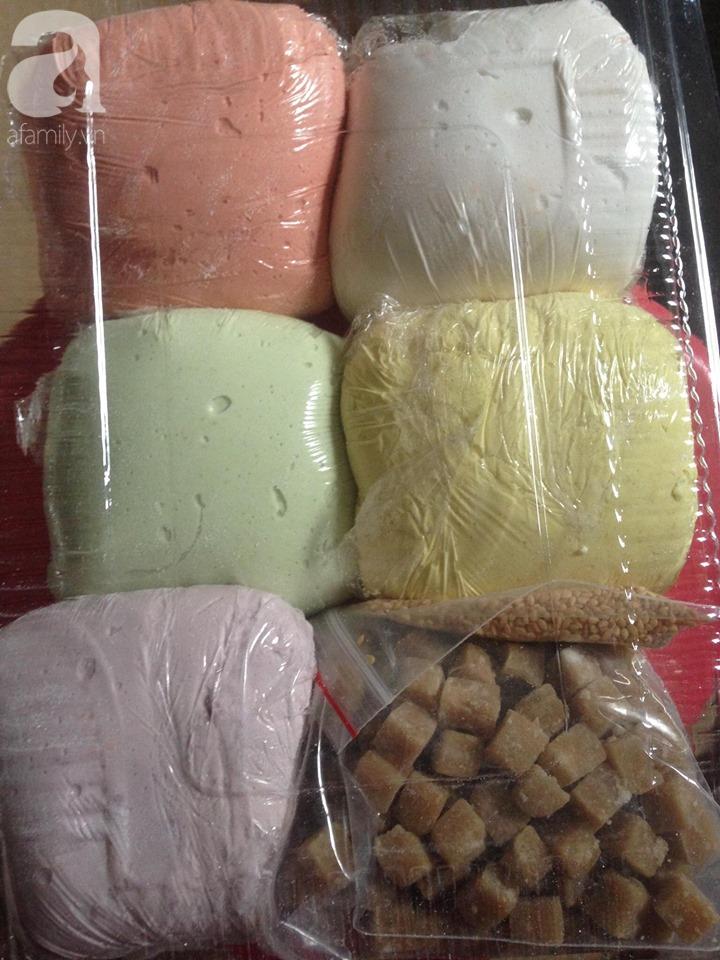 Set bột bánh trôi ngũ sắc đầy chợ mạng, tiểu thương ngày bán 4 tạ bột-3
