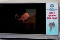 Khử trùng khẩu trang đã qua sử dụng bằng lò vi sóng tại nhà