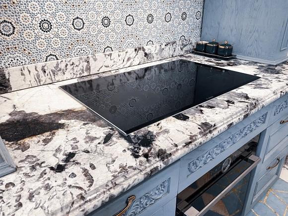Cận cảnh không gian căn bếp thiết kế theo phong cách tân cổ điển trong biệt thự của gia đình Đăng Khôi-8
