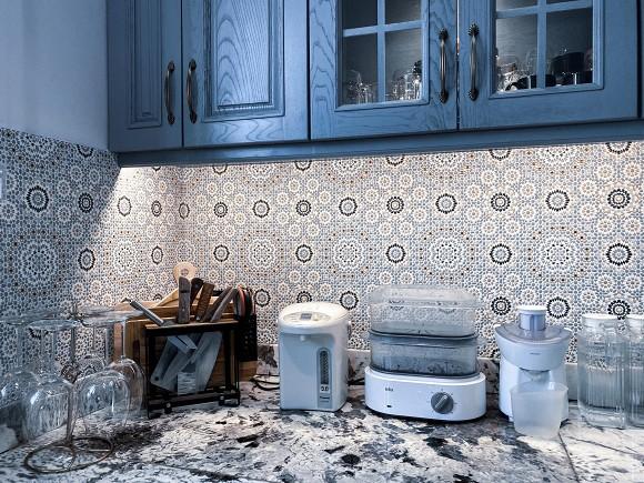 Cận cảnh không gian căn bếp thiết kế theo phong cách tân cổ điển trong biệt thự của gia đình Đăng Khôi-12