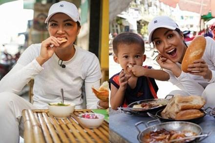 Hoa hậu H'Hen Niê dành một ngày ăn bánh mì khắp Sài Gòn và lý do xúc động phía sau