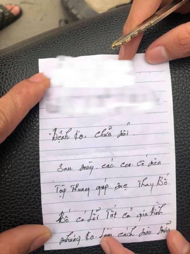 Người đàn ông lao đầu vào ô tô tự tử nhưng bất thành, nội dung bức thư tìm thấy trong túi áo gây xúc động mạnh-2