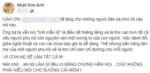 Nhật Kim Anh phản pháo cực gắt sau khi chồng cũ quyết kháng nghị giành quyền nuôi con-1