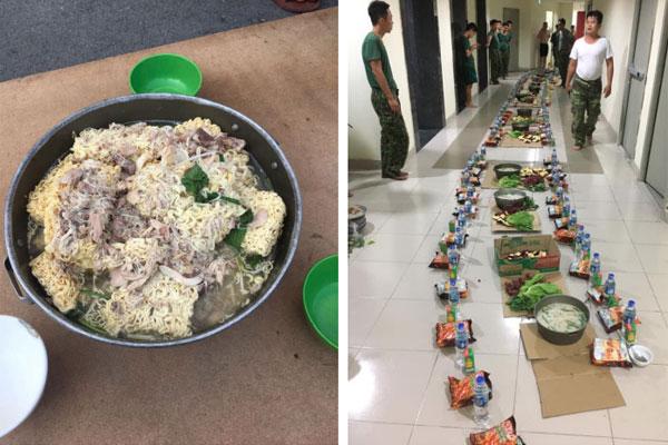 Bữa cơm tối nấu vội lúc 10 rưỡi đêm của đội lấy máu xét nghiệm lưu động chỉ có rau và trứng luộc khiến người xem không khỏi nhói lòng-3