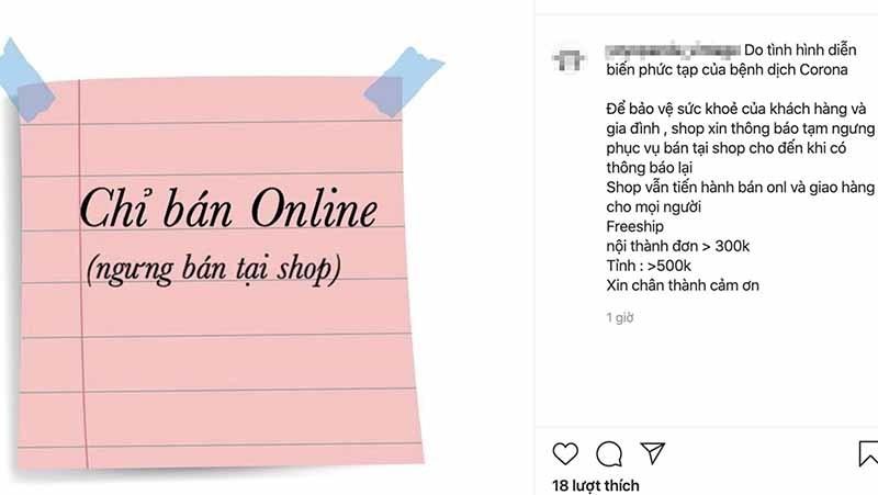 Shop thời trang cửa đóng then cài, kéo khách mua online-1