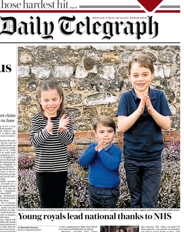 3 con nhà Công nương Kate gây sốt MXH khi xuất hiện trong đoạn video cổ vũ đội ngũ y tế chống dịch Covid-19, Hoàng tử út Louis gây bất ngờ hơn cả-2