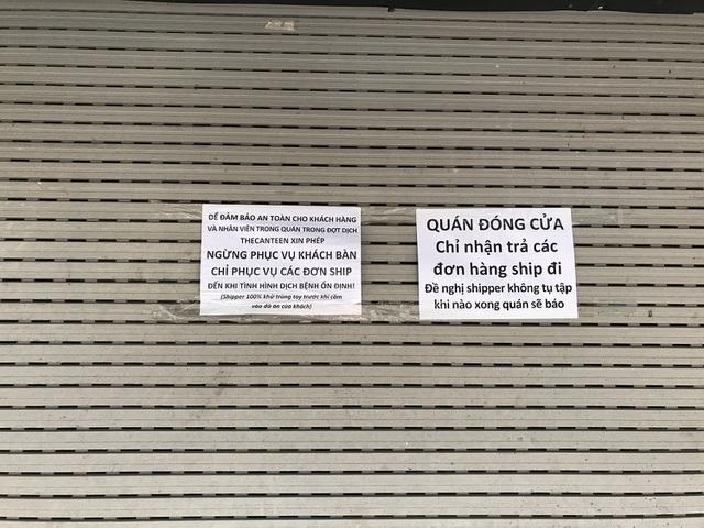 Tránh dịch Covid-19, hàng quán Hà Nội đồng loạt đóng cửa, chỉ nhận ship-6
