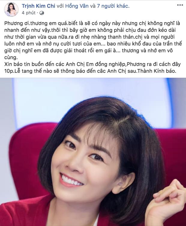 Bạn bè nghệ sĩ bàng hoàng, thương xót khi nghe tin diễn viên Mai Phương qua đời vì ung thư phổi-6