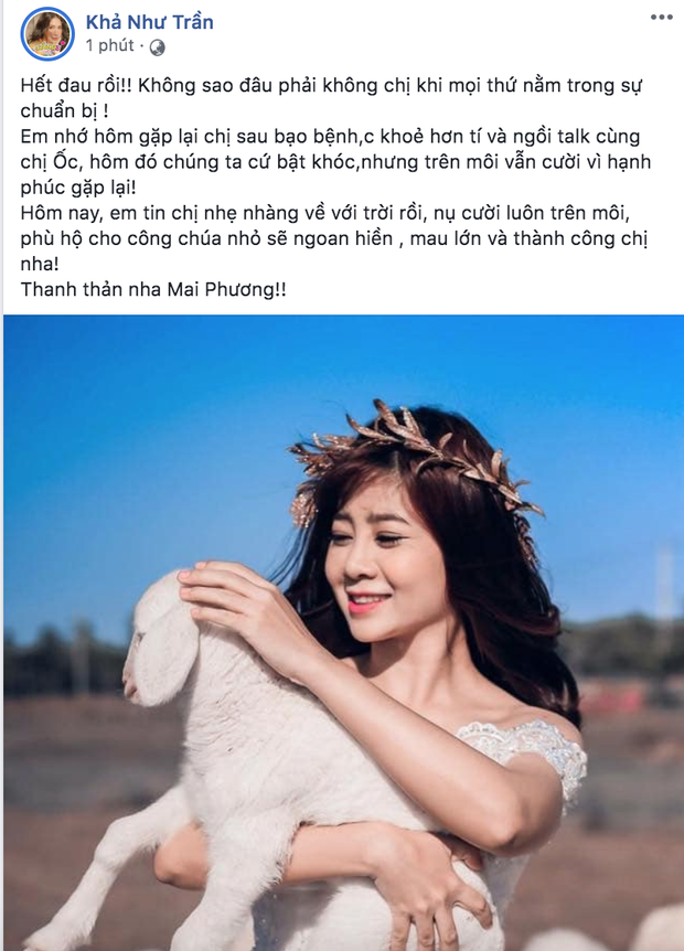 Bạn bè nghệ sĩ bàng hoàng, thương xót khi nghe tin diễn viên Mai Phương qua đời vì ung thư phổi-8