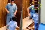 Hình ảnh vị bác sĩ ngồi sụp xuống, ôm mặt khóc nức nở khi không thể ôm con trai vào lòng vì sợ lây nhiễm Covid-19 từ bệnh viện 'gây bão' MXH