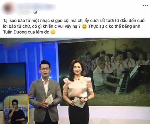 MC Mai Ngọc bị chỉ trích vì biểu cảm tươi cười khi báo tin cố nhạc sĩ Phong Nhã qua đời trên sóng truyền hình và sự tranh cãi của dân mạng-2